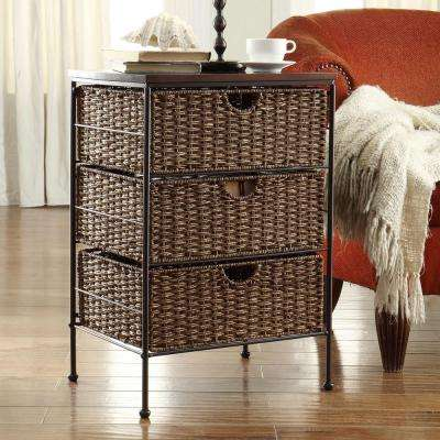 Farmington Corn Husk Weave 3-Drawer Chest