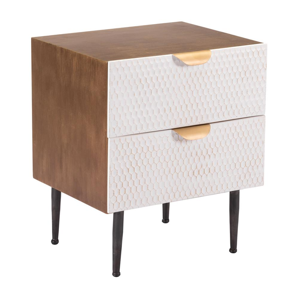 ZUO Honeycomb Antique End Table