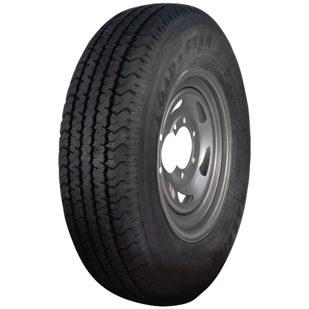 Loadstar 2830 lb. Load Capacity White with Stripe Eight Spoke Steel Wheel Rim by Loadstar