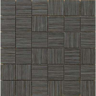 Strands Twilight 12 in. x 12 in. x 10 mm Porcelain Mesh-Mounted Mosaic Tile (0.96 sq. ft.)