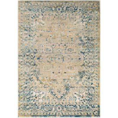 Tharunaya Dark Blue 5 ft. 3 in. x 7 ft. 6 in. Area Rug