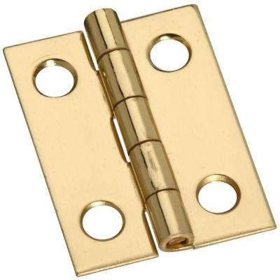 1 in. Solid Brass Narrow Hinge