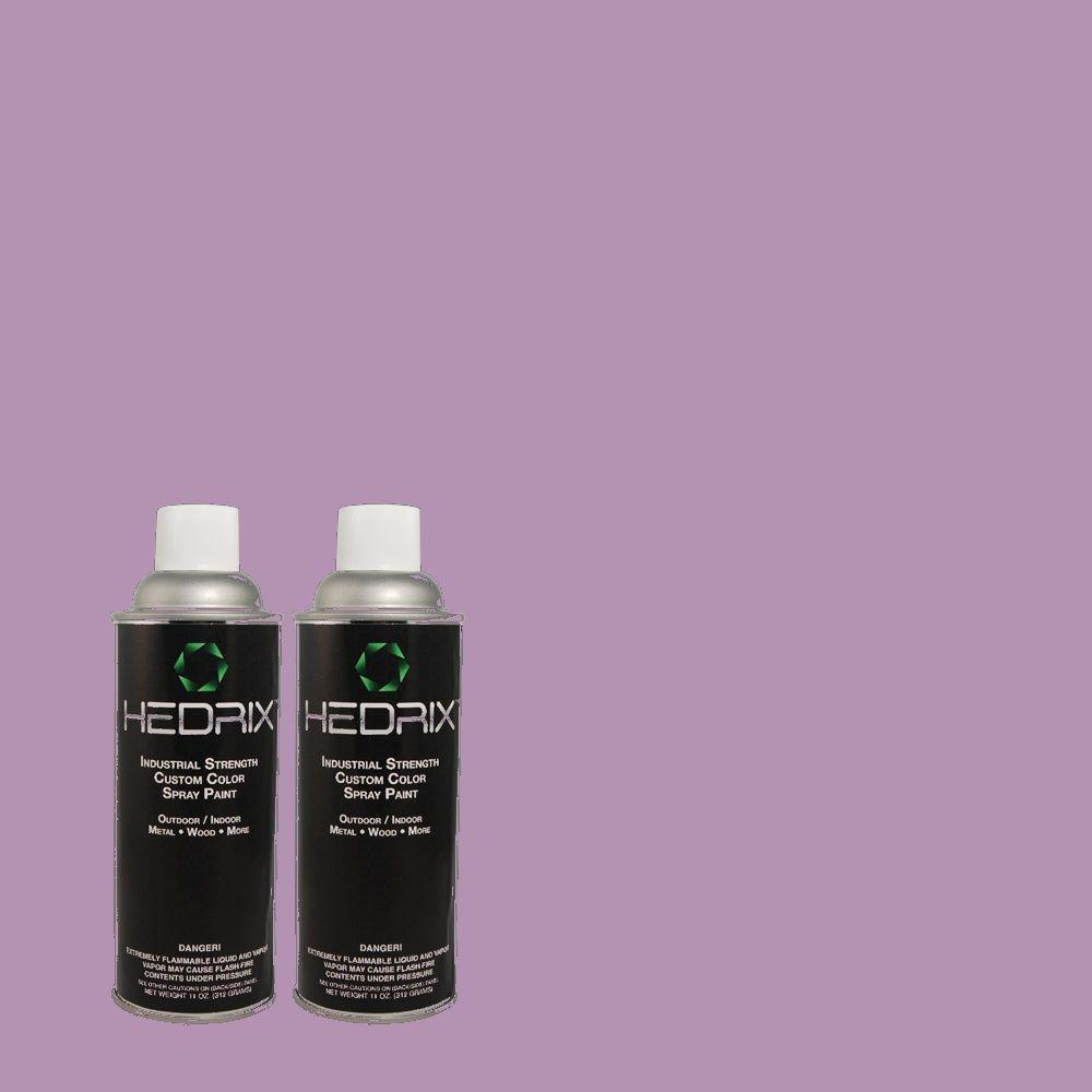 Hedrix 11 oz. Match of 650B-5 Garden Pansy Flat Custom Spray Paint (2-Pack)