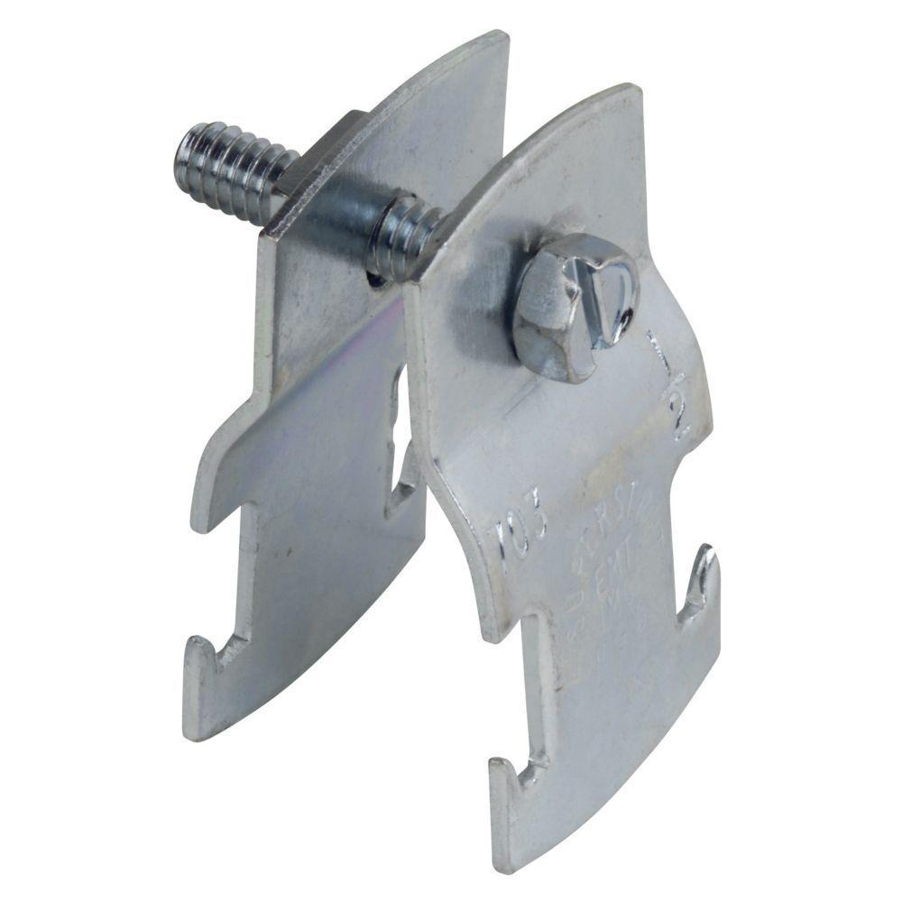 1/2 in. Universal Strut Pipe Clamp - Silver Galvanized