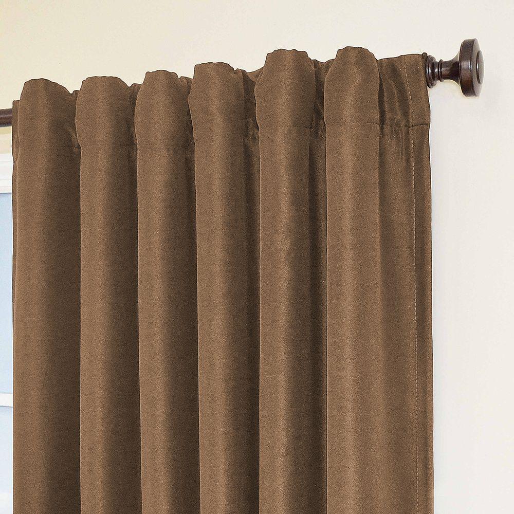 Fresno Blackout Mushroom Polyester Curtain Panel, 84 in. Length (price varies