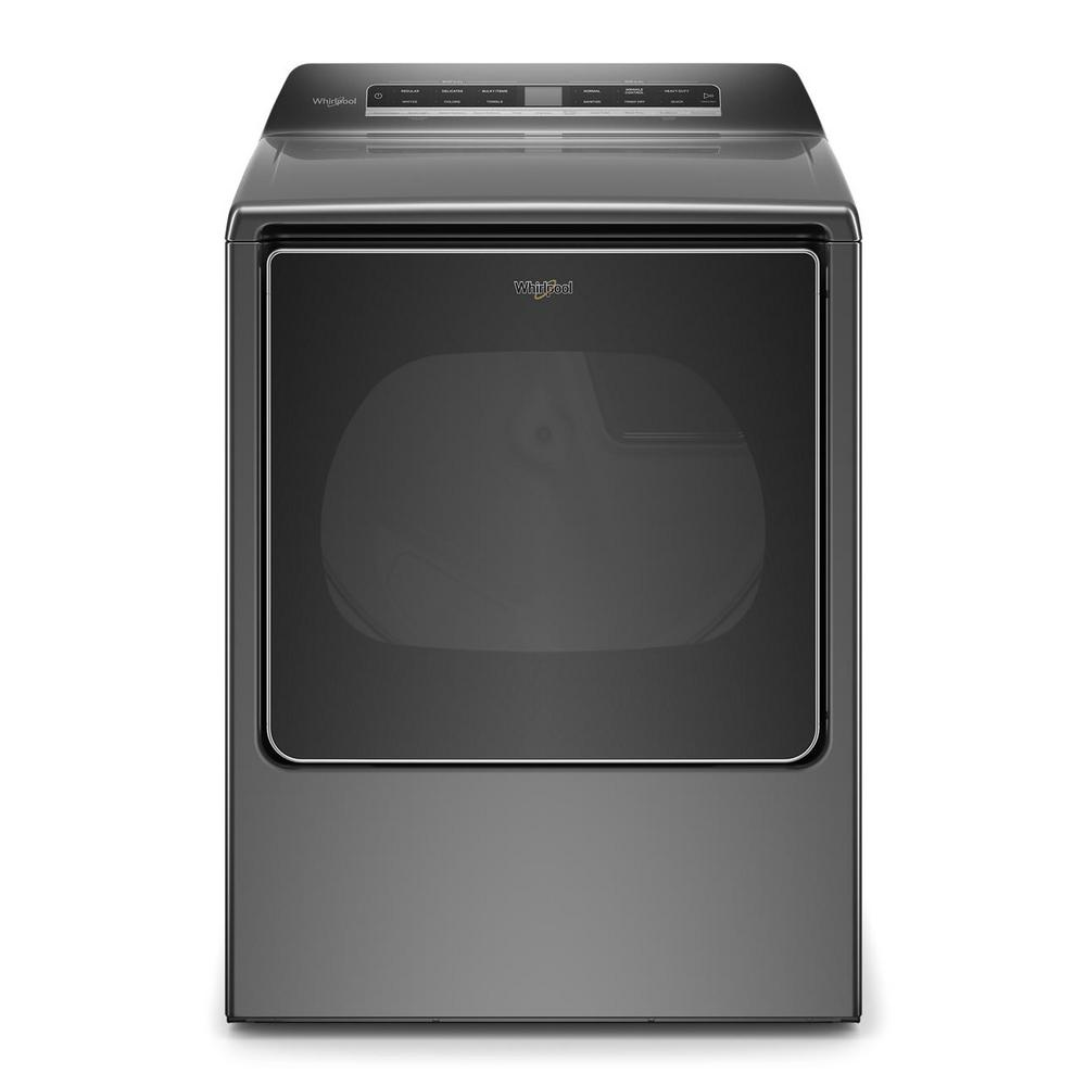 Whirlpool 8.8 cu. ft. 240-Volt Smart Chrome Shadow Electric Dryer with Steam and Advanced Moisture Sensing Technology, ENERGY STAR