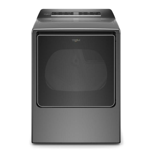 8.8 cu. ft. 240-Volt Smart Chrome Shadow Electric Dryer with Steam and Advanced Moisture Sensing Technology, ENERGY STAR
