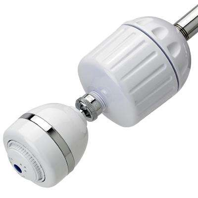 High Output 2 Shower Water Filtration System in White with Shower Head