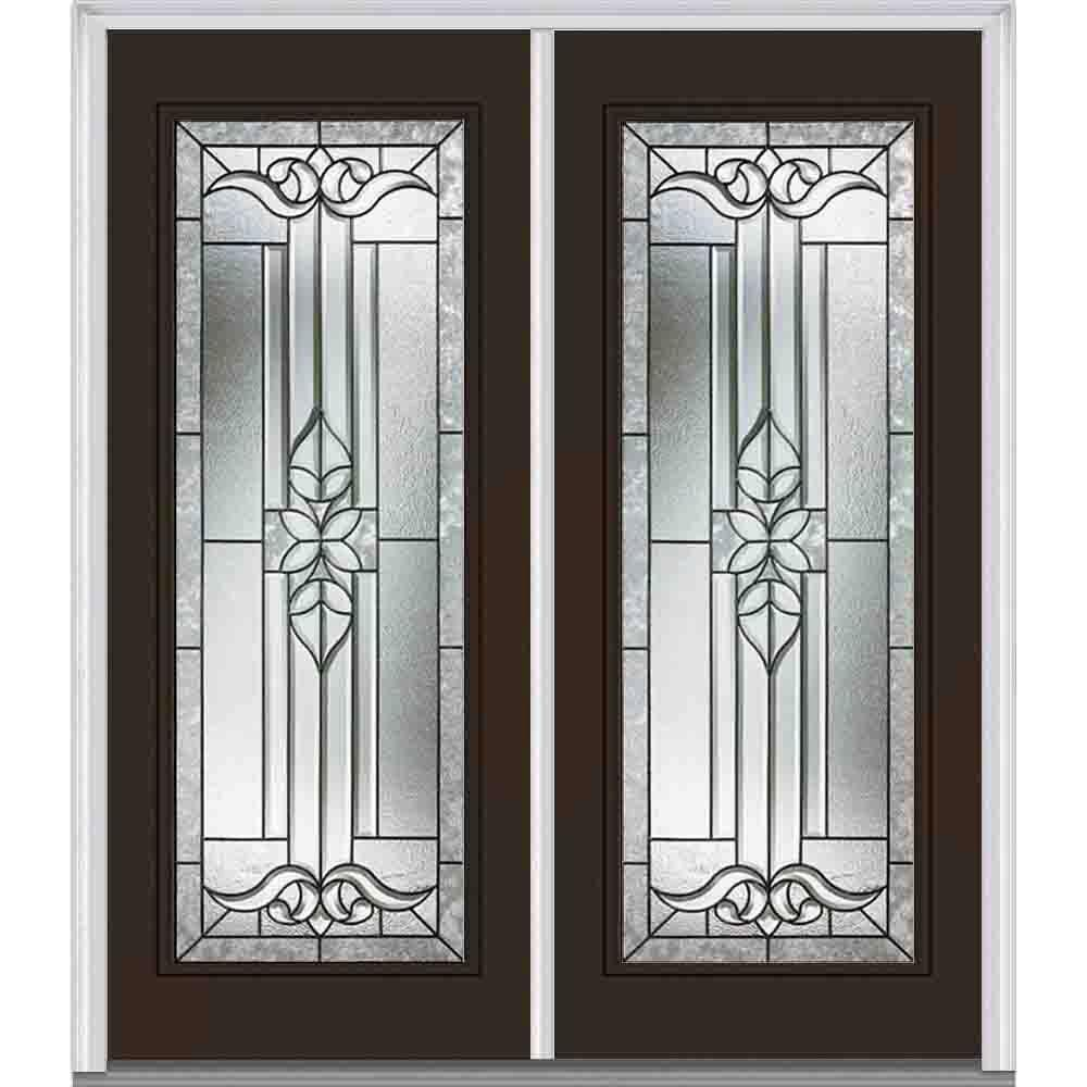 Mmi door 72 in x 80 in cadence right hand full lite for 72 x 80 exterior door