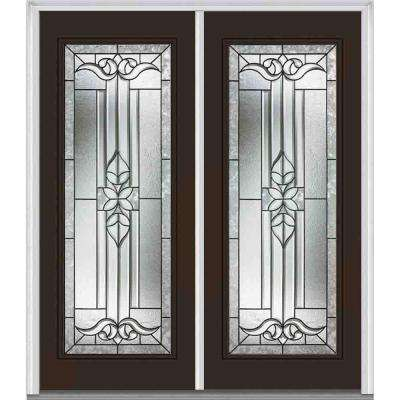 72 in. x 80 in. Cadence Right-Hand Full Lite Classic Painted Steel Prehung Front Door