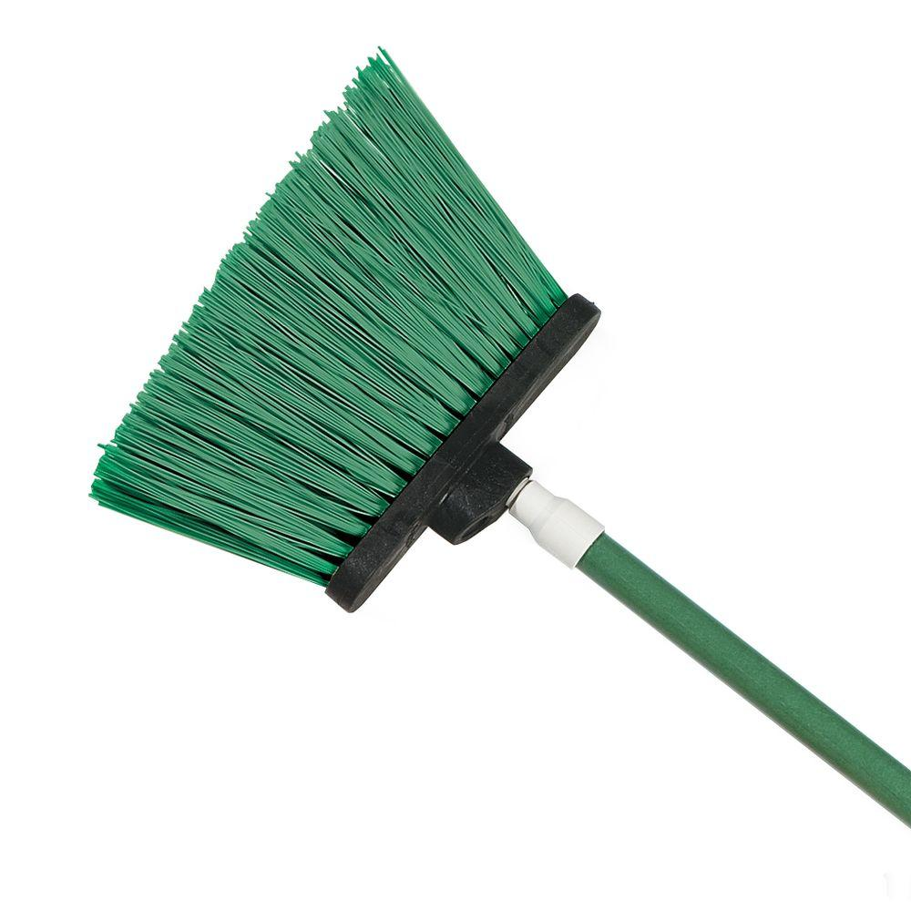 Carlisle Sparta Spectrum 56 in. Duo-Sweep Angle Broom with Un-Flagged Bristle in Green (Case of 12)