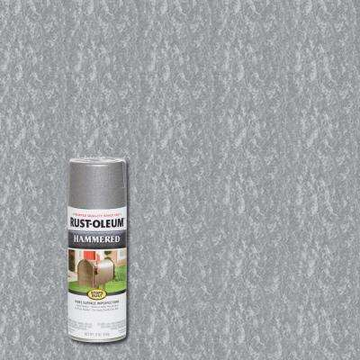 12 oz. Hammered Silver Protective Spray Paint (6-Pack)