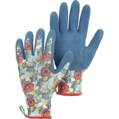 Hestra Large Floral Latex Dip Gardening Gloves
