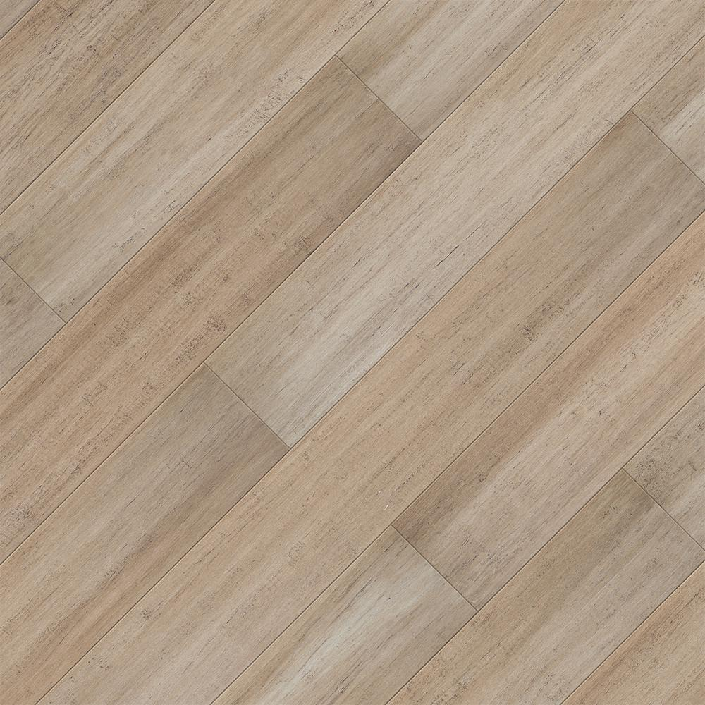 Home Legend Hand Scraped Strand Woven Mojave 7 mm T x 5.2 in. W x 36.22 in. L Click Bamboo Flooring (13.07 sq. ft. / case), Light -  HL667