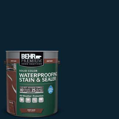 1 gal. #SC-101 Atlantic Solid Color Waterproofing Exterior Wood Stain and Sealer