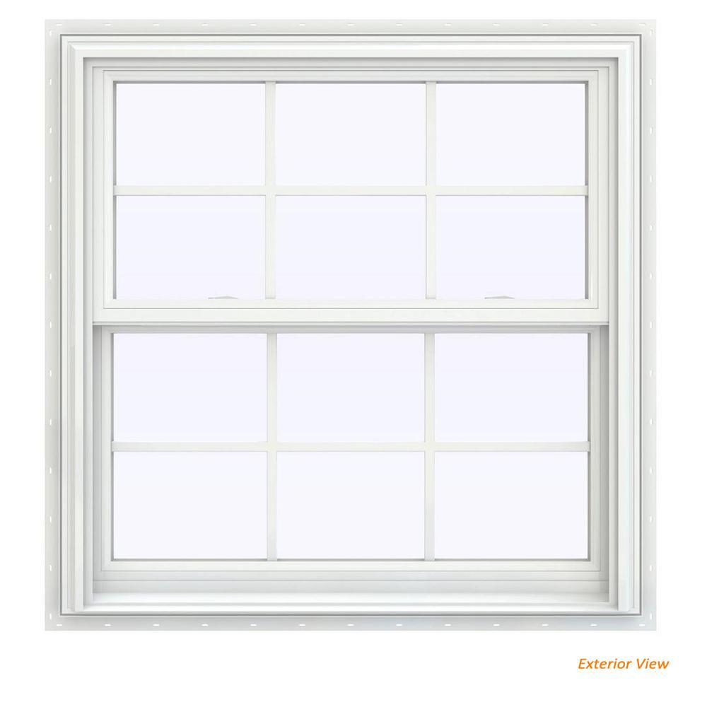 jeld wen window sizes casement jeldwen 355 in v2500 series white vinyl double hung
