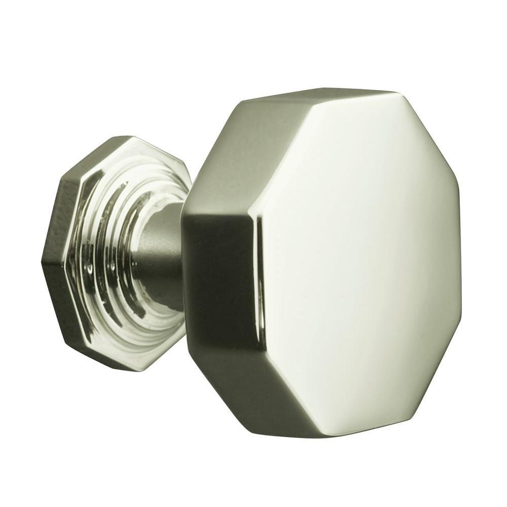 vibrant polished nickel cabinet knob