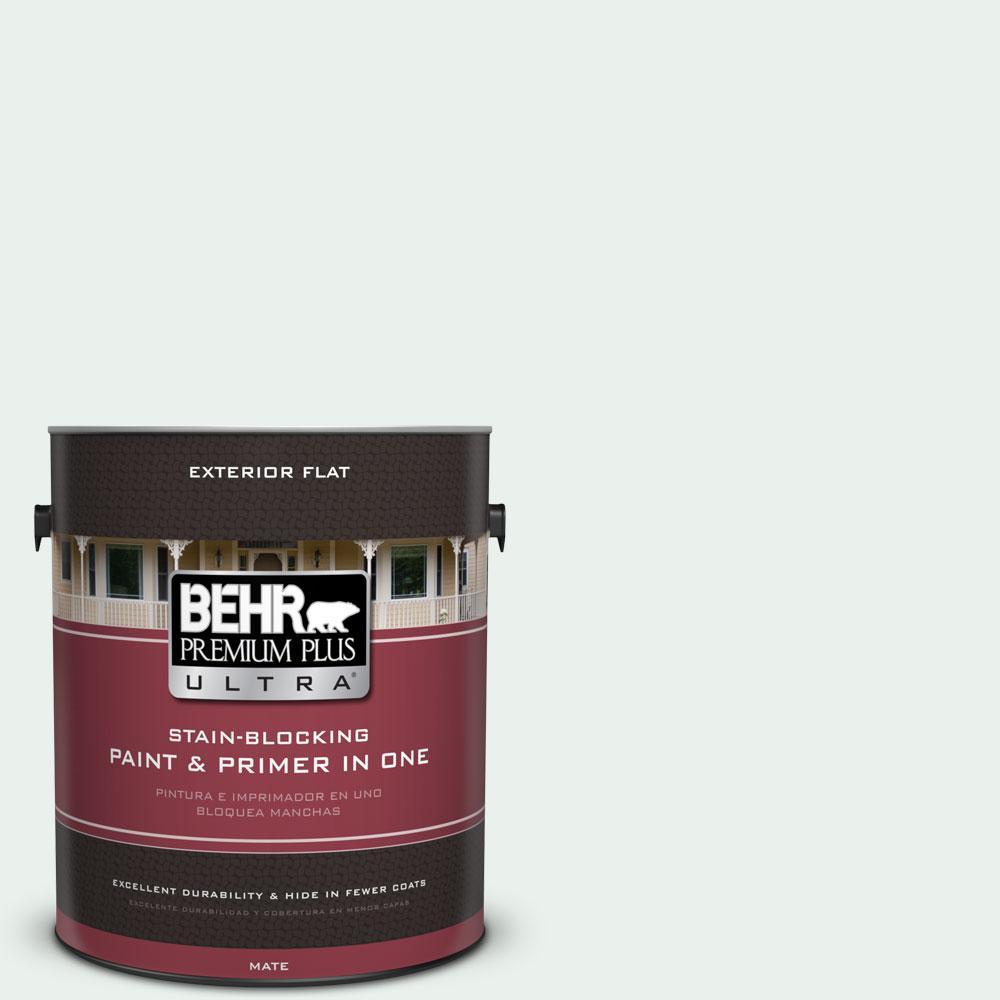 BEHR Premium Plus Ultra 1-gal. #470E-1 Breakwater White Flat Exterior Paint