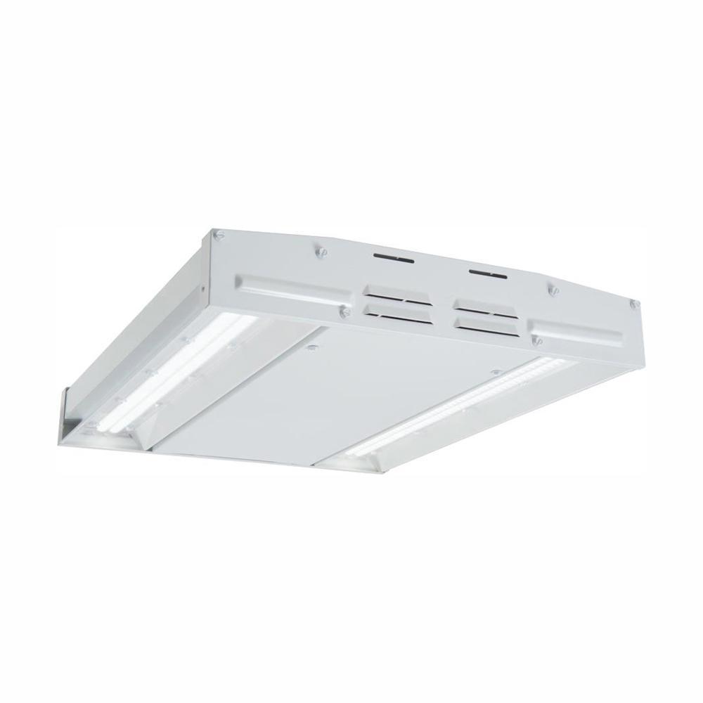 Metalux 90 Watt 2 Ft White Integrated Led High Bay Light 12 000 Lumens