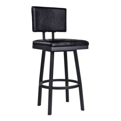 Balboa 26 in. Black Swivel Bar Stool