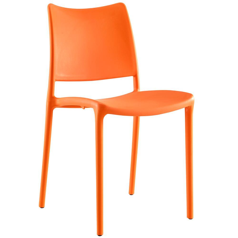MODWAY Hipster Orange Dining Side Chair EEI-1703-ORA