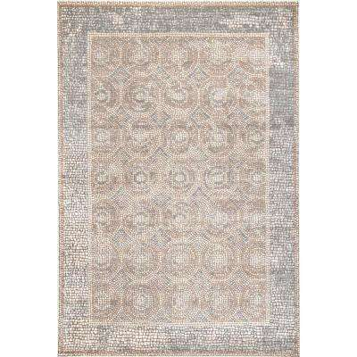 Traditional Dennise Beige 5 ft. 3 in. x 7 ft. 6 in. Area Rug