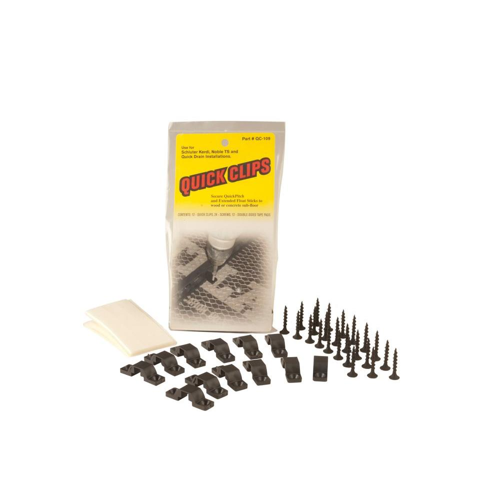 Quick-Clips 12 Clips, 24 Screws and Double Faced Tape (12-Piece)