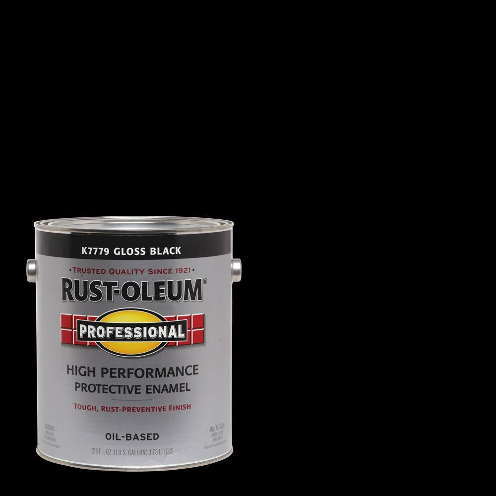 1 gal. High Performance Protective Enamel Gloss Black Oil-Based