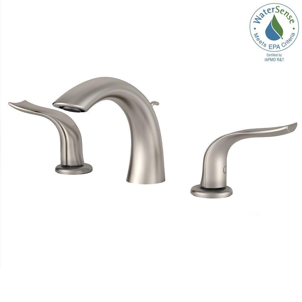 KRAUS. Kohra 8 in. Widespread 2-Handle Bathroom Faucet in Brushed Nickel