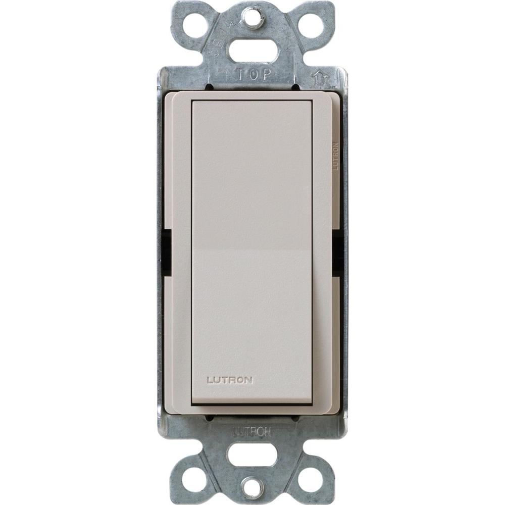 Lutron Claro On/Off Switch, 15-Amp, Single-Pole, Taupe-SC-1PS-TP ...