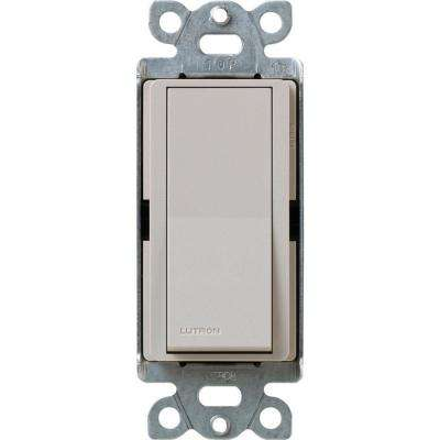 Claro On/Off Switch, 15-Amp, Single-Pole, Taupe