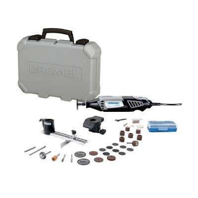 4000 Series 1.6 Amp Variable Speed Corded Rotary Tool Kit with 30 Accessories, 2 Attachments and Carrying Case
