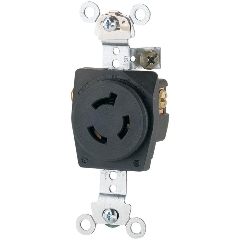 Eaton 15 Amp Tamper Resistant Combination Single Pole Toggle Switch Wiring A Switched Receptacle 250 Volt L6 Industrial