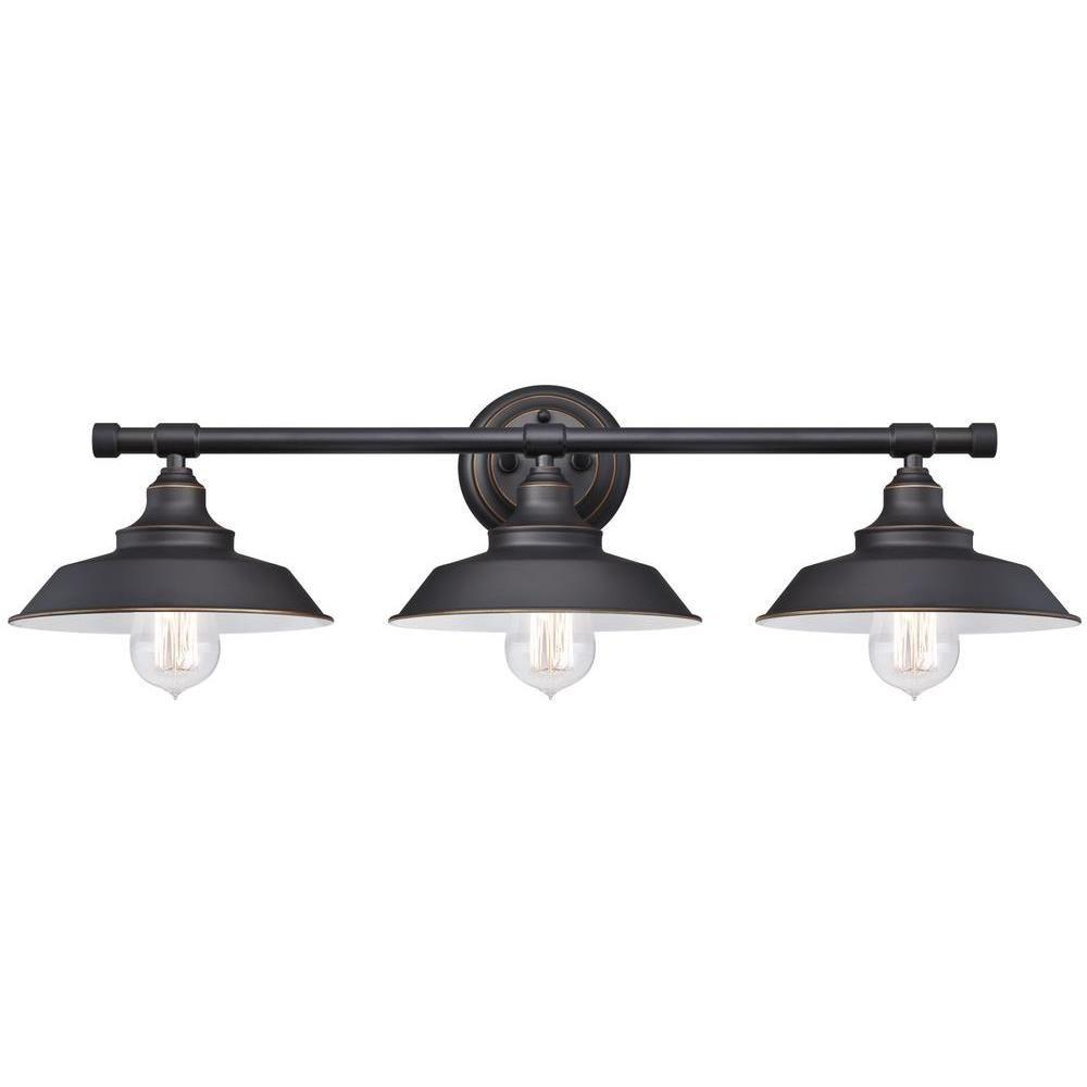 Oil Rubbed Bronze Vanity Light Bathroom Wall Farmhouse Vintage Shades