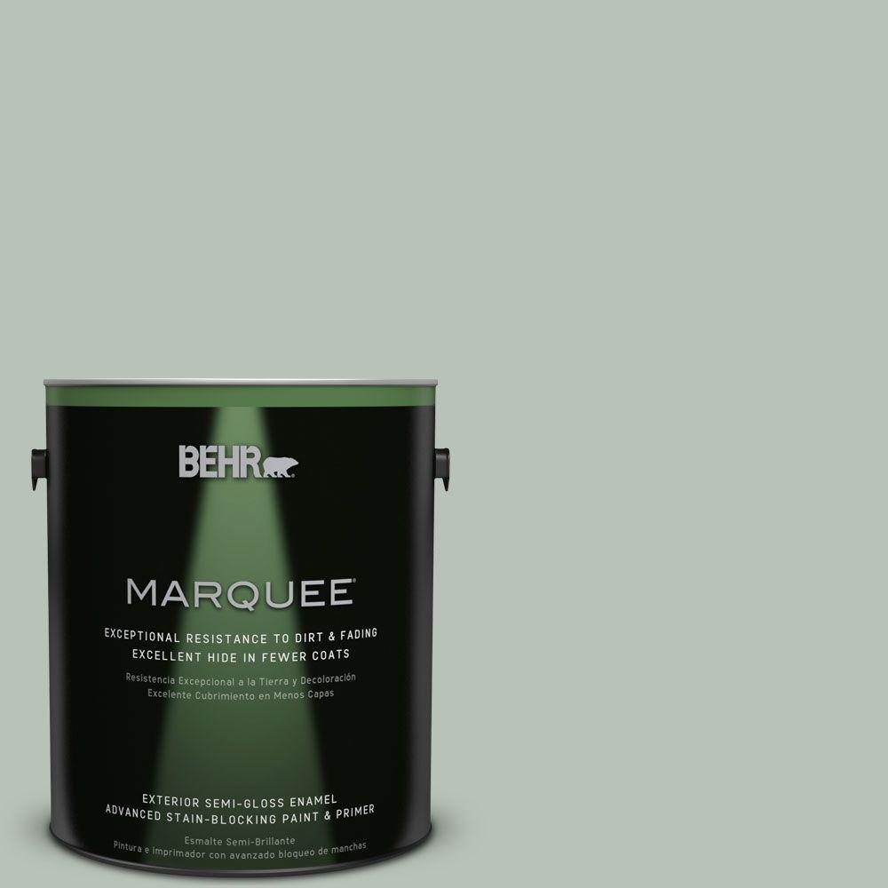 BEHR MARQUEE 1-gal. #MQ6-18 Recycled Glass Semi-Gloss Enamel Exterior Paint