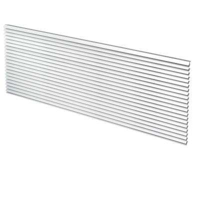 42 in. x 16 in. Aluminum Architectural Rear Grille in Clear