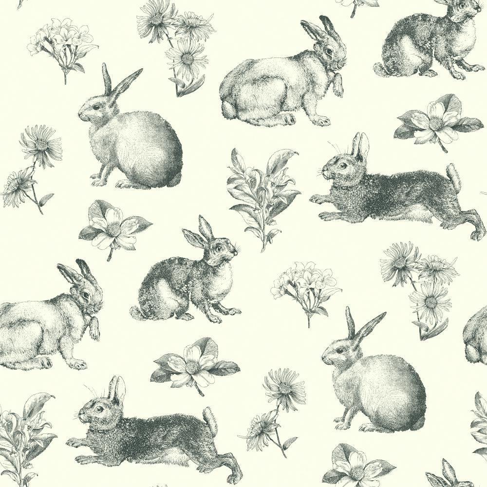 Bunny Toile Wallpaper