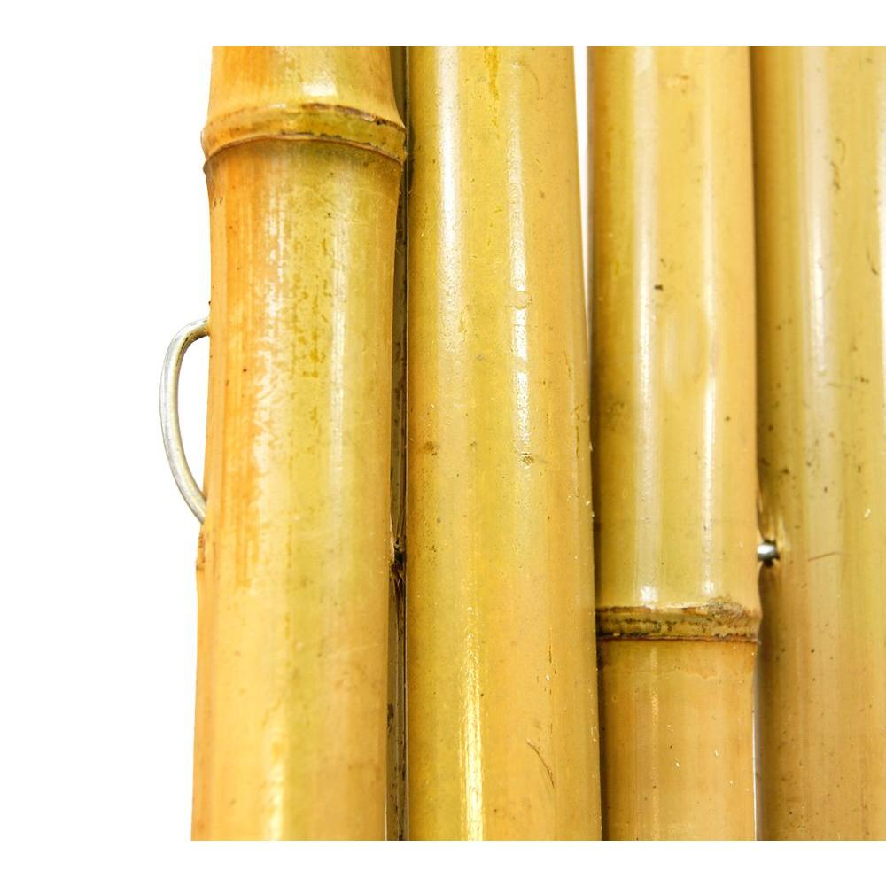 Backyard X Scapes 6 Ft H 8 W 1 In D Natural Rolled Bamboo Fence Panel