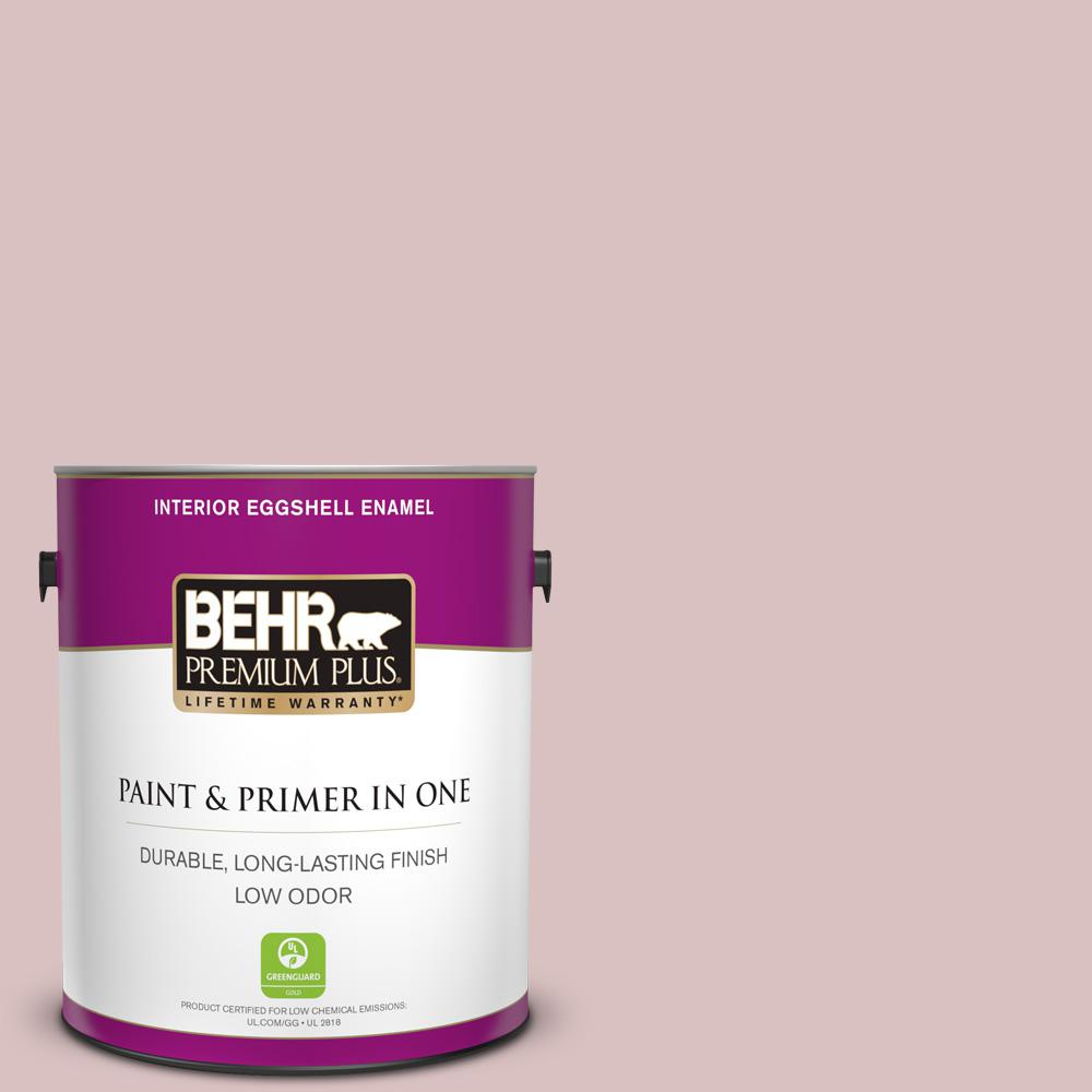 Behr Premium Plus 1 Gal Ppu17 08 Peony Blush Semi Gloss Enamel Low Odor Interior Paint And Primer In One 305001 The Home Depot