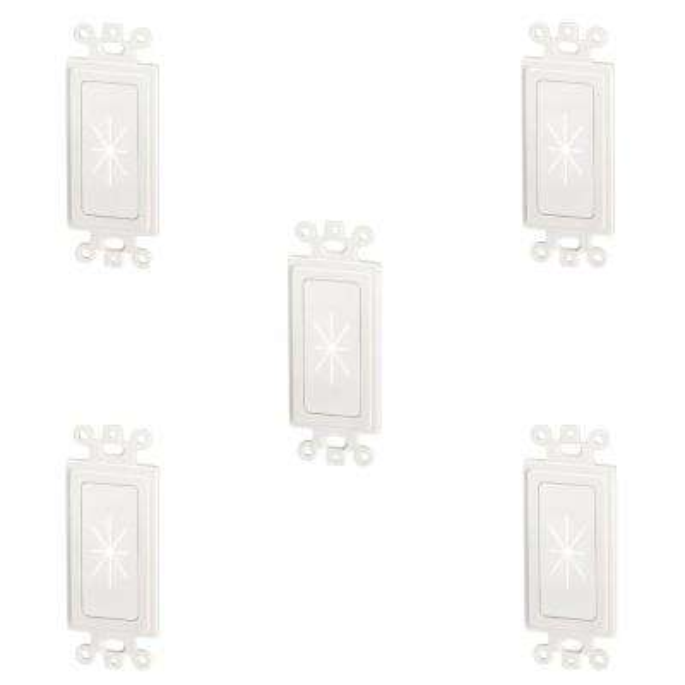 1-Gang Flexible Decor Insert, White (5-Pack)