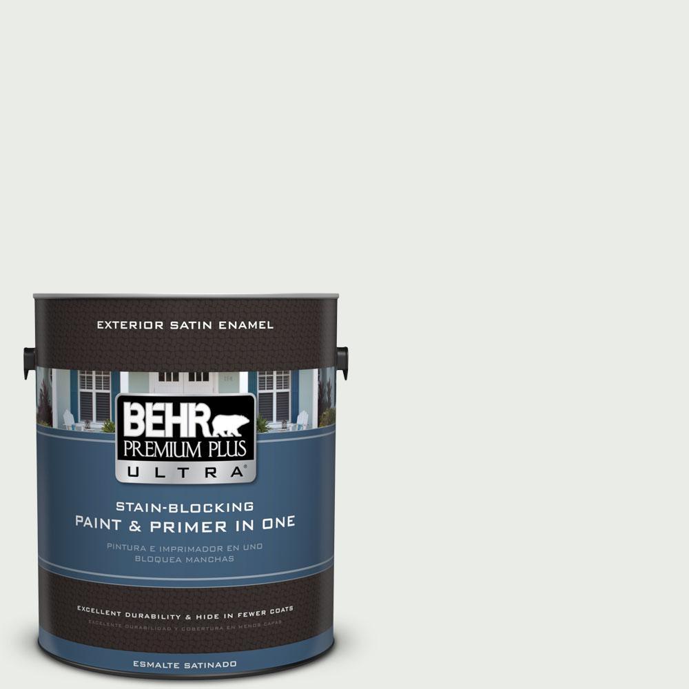 BEHR Premium Plus Ultra 1-gal. #710E-1 Snow Leopard Satin Enamel Exterior Paint
