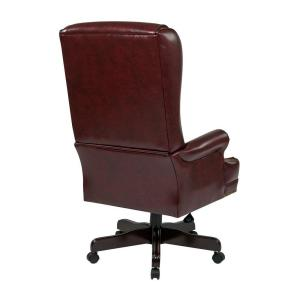 Pleasant Oxblood Vinyl High Back Executive Office Chair Gmtry Best Dining Table And Chair Ideas Images Gmtryco