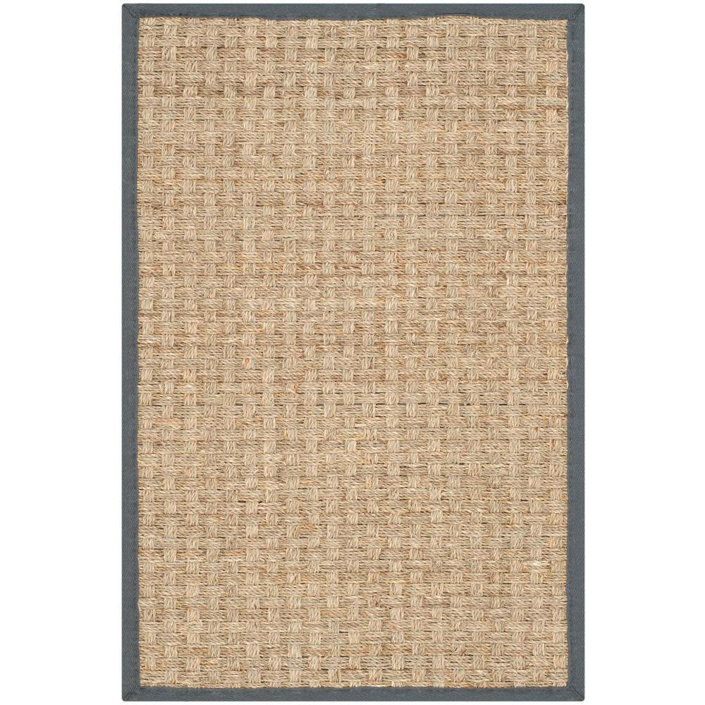 Natural Fiber Beige/Dark Grey 2 ft. 6 in. x 4 ft.
