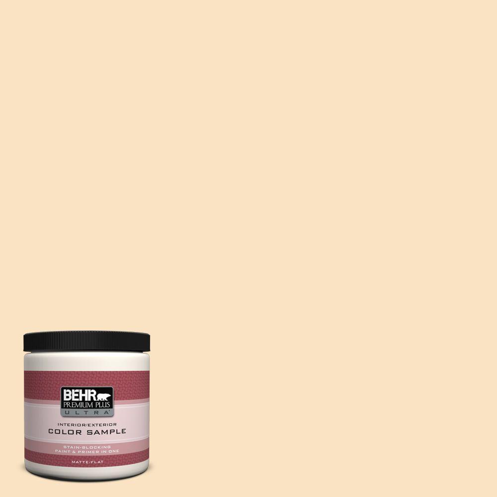 BEHR Premium Plus Ultra Home Decorators Collection 8 oz. #HDC-CT-03 Candlewick Flat/Matte Interior/Exterior Paint Sample
