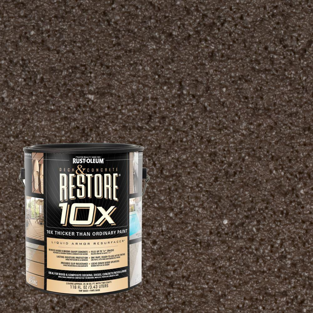 Rust-Oleum Restore 1-gal. Autumn Brown Deck and Concrete 10X Resurfacer