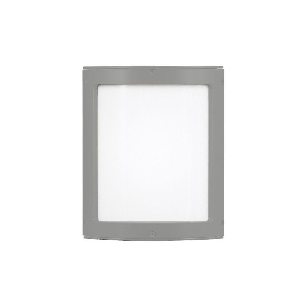 LBL Lighting Omni 1-Light Outdoor Silver Small LED Opal Glass Wall Light