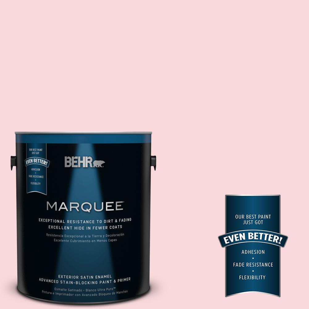 BEHR MARQUEE 1-gal. #140A-2 Coy Pink Satin Enamel Exterior Paint