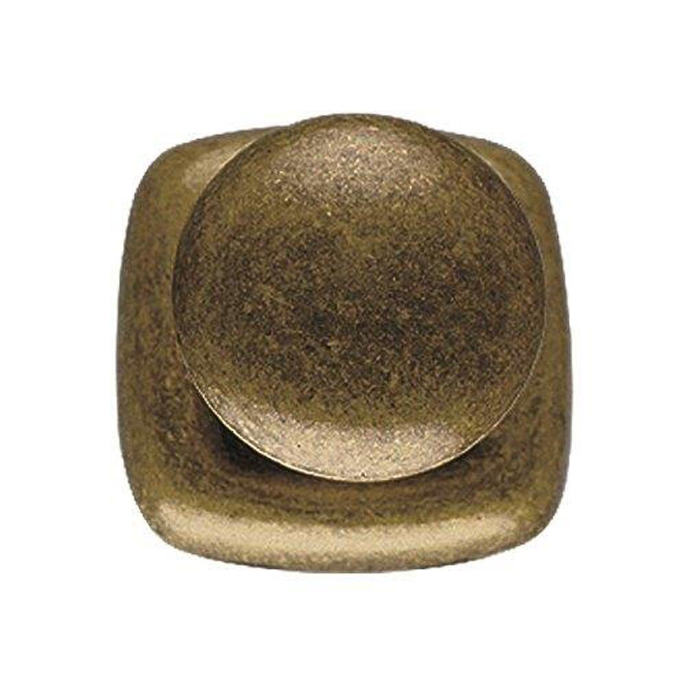 1.53 in. Antique Brass Dark Knob