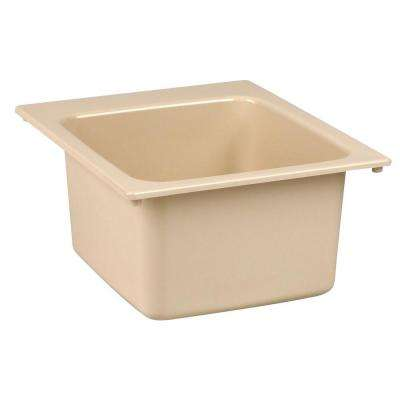 17 in. x 20 in. Fiberglass Self-Rimming Utility Sink in Bone
