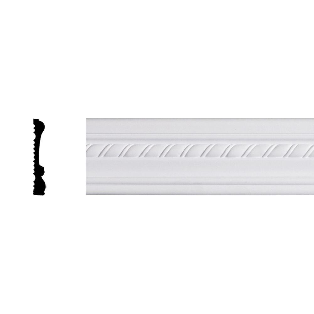 Lynea Molding Twist Collection 3/4 in. x 3-1/2 in. x 96 in. Composite Chair Rail Moulding